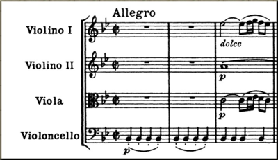1787 First 3 measures of Op 50 #1