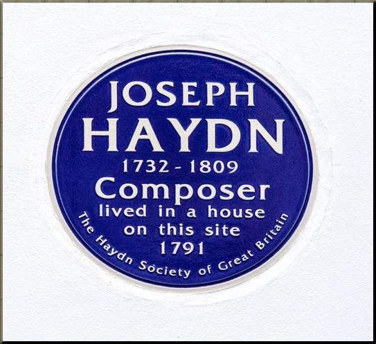 1791 Haydn Plaque