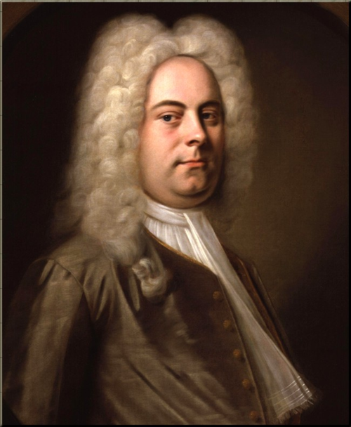 1791 George Frideric Handel by Balthasar Denner
