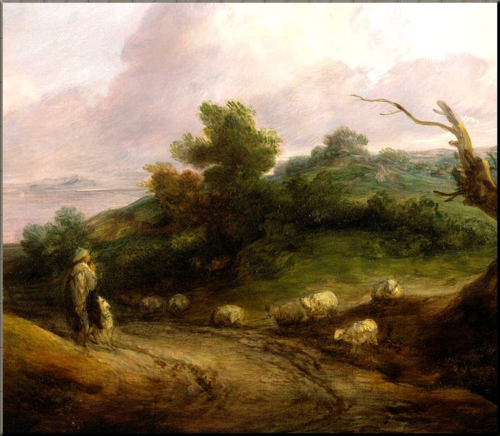 1791 Gainsborough Landscape with a Shepherd  and His Flock ca 1784
