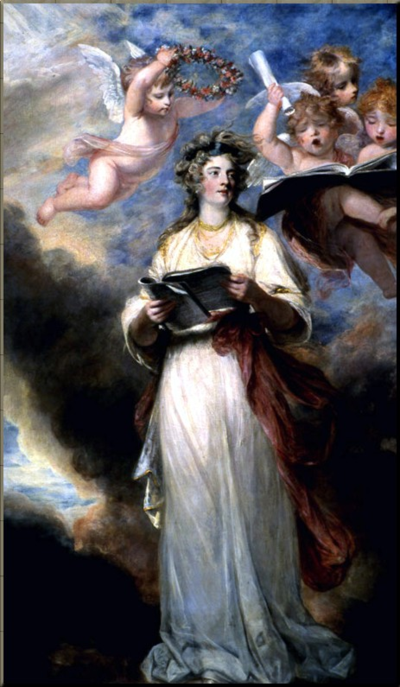1791 Mrs Billington as Ste. Cecilia by Joshua Renolds (1789)