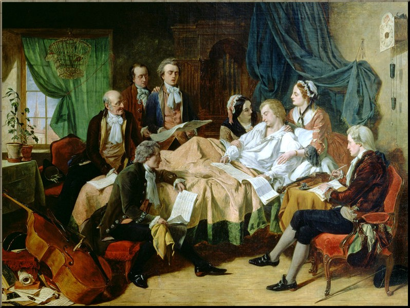 1791 Mozart on his deathbed