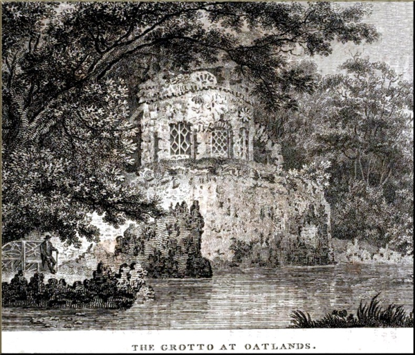 1791 Grotto at Oatlands appeared originally in European Mag