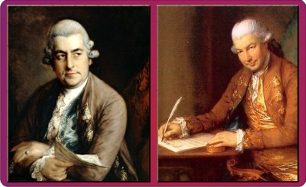 1792 JC Bach and CF Abel by Gainsborough