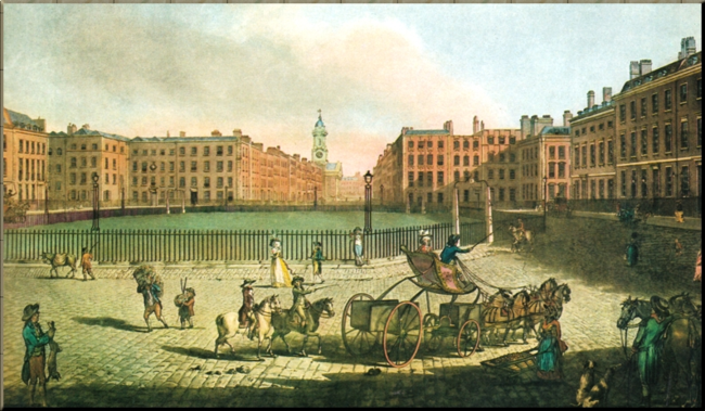 1792 Hanover Square in 1787 by Dayes