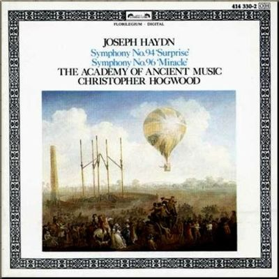 Haydn Hogwood Symphonies  094 & 096 cover