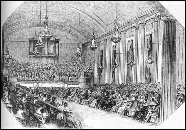 1792 Concert in Hanover Square Rooms - Engraving - Illustrated London News