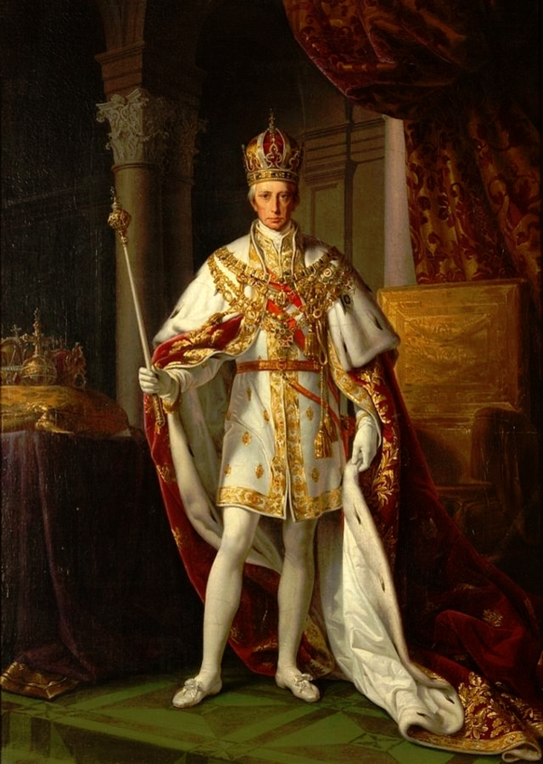 1792 Franz II in his Coronation Robes by Leopold Kupelwieser