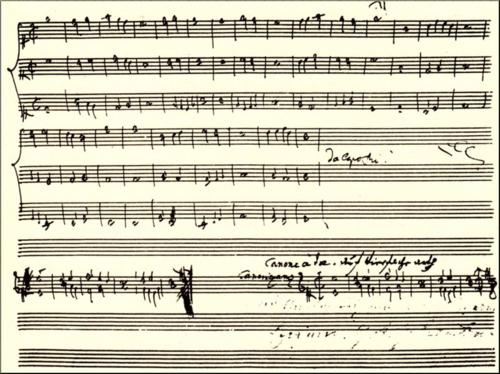 1791 Puzzle Canon Haydn's score