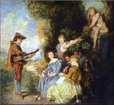 1792 Watteau 'La Leçon d'Amour' 1716