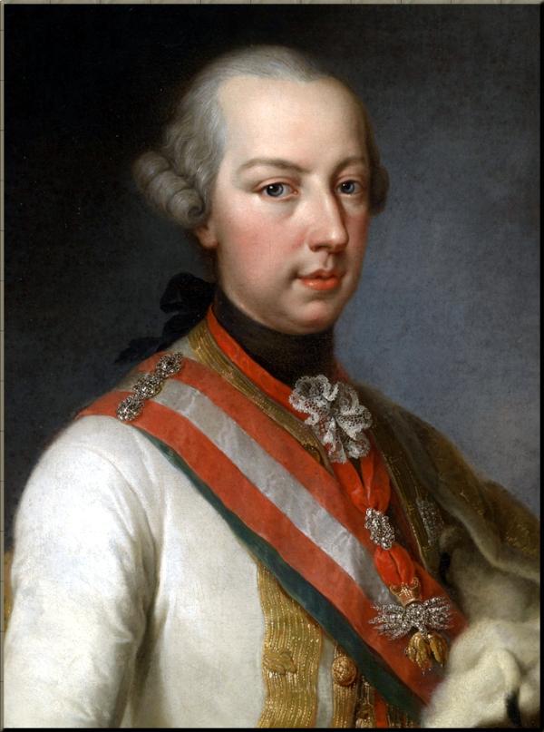 Joseph II Habsburg by Joseph Hickel