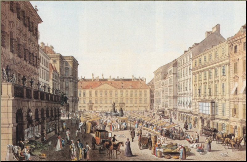 1793 The New Market in Vienna ca mid-1790's