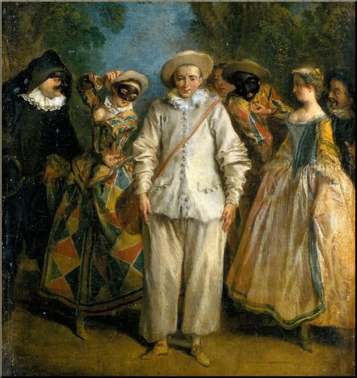 1769 A Strolling Troupe of Commedia del Arte Players - Nicholas Lancret