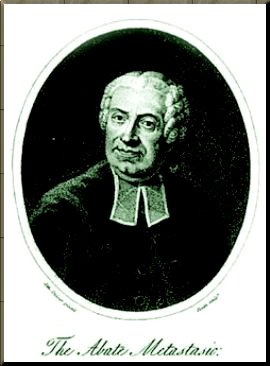 1794 frontispiece of Burney's Metastasio book