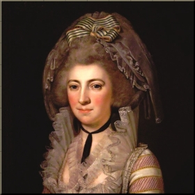Hester Thrale in 1785-86 by Unknown Italian artist reduced