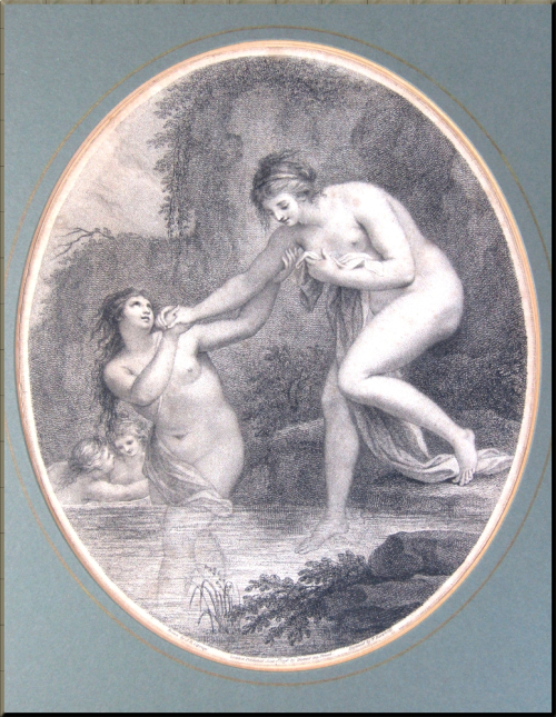 1794 'Nymphs Bathing in a River' by Giovanni Battista Cipriani - Bartolozzi