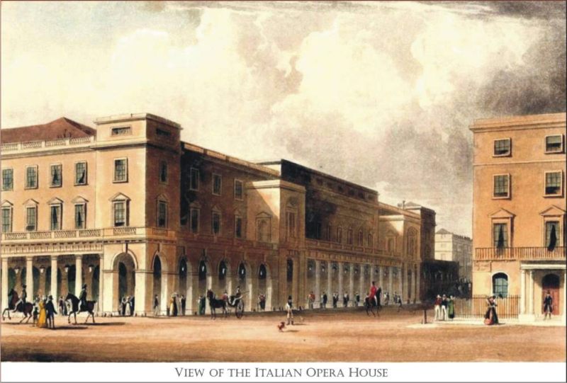 1795 Her Majesty's Theater in the Haymarket also called The Italian Opera William Capon 2