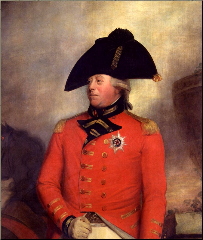 1795 George III in uniform by Sir William Beechey ca 1799