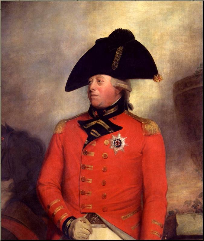 1795 George III in uniform by Sir William Beechey ca 1799