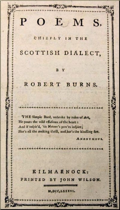 1795 Burns Poems chiefly (1786)