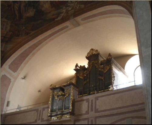 1796 Eisenstadt Bergkirche organ loft
