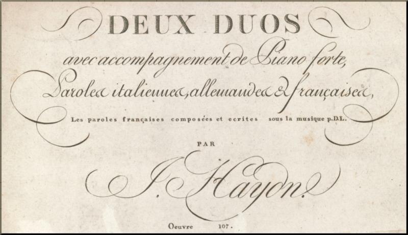 1796 Italian Duets title page Simrock of Bonn 1803