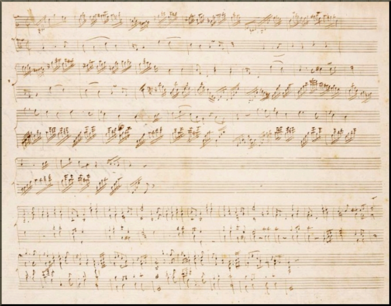 1797 Haydn's autograph sketch of the variations ZweigMS41