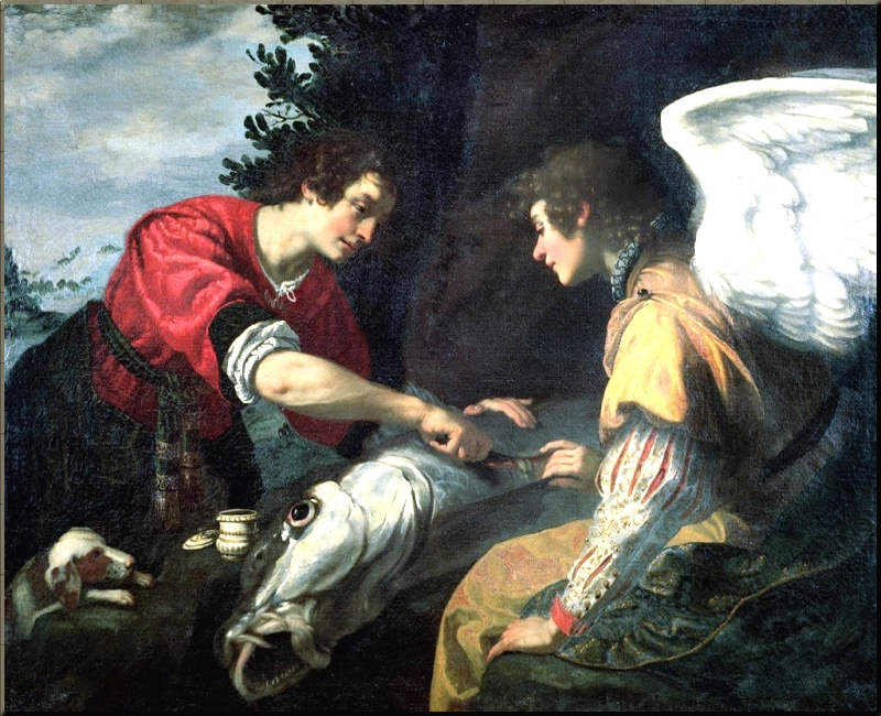 1797 Tobias and the Archangel Raphael by Jacopo Vignali
