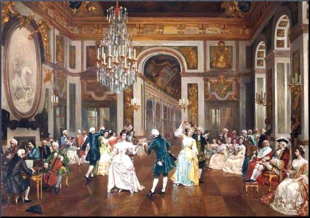 Dancing a minuet late 18th century by Filippo Barati