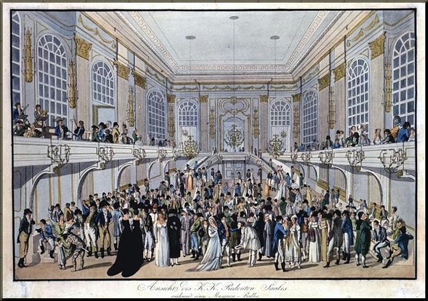 Ball at the Redoutensaal 1815 engraving by Carl Schütz