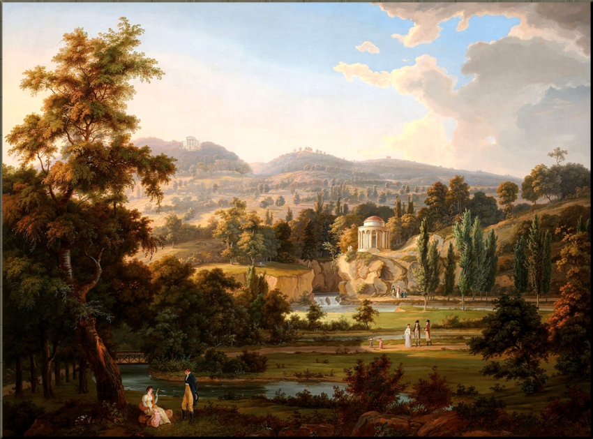 1797 The new English Gardens at Eisenstadt Palace by AC Dies