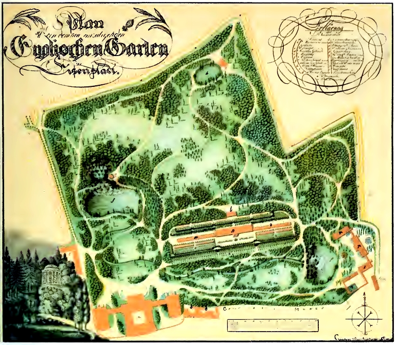1797 Map of new Gardens from Horányi