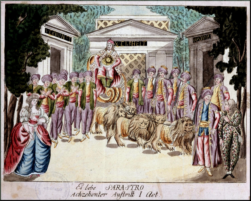 1798 Zauberfloete on stage at Theatre auf der Wieden sm