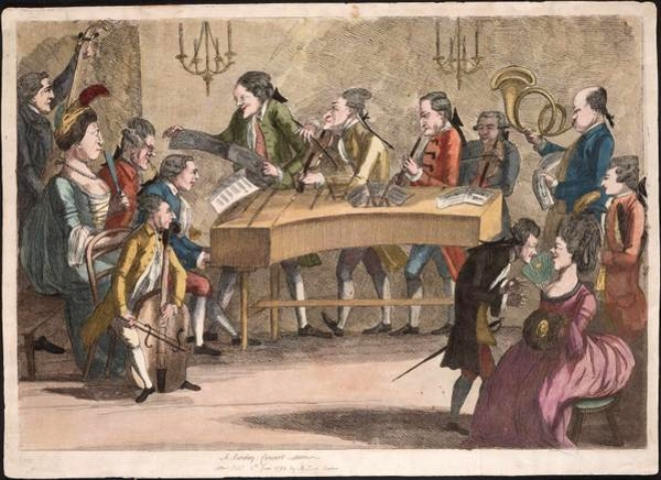 A Sunday Concert by Charles Loraine Smith of Enderby 1782