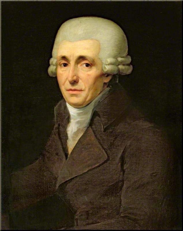 1798 Joseph Haydn ca. 1799 by J.C. Rößler