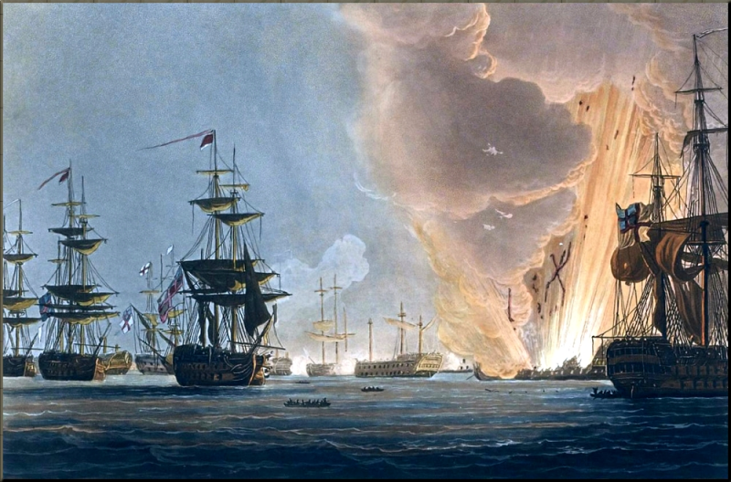 1798 Battle of the Nile by Thomas Whitcombe