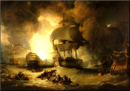 1798 Battle of the Nile by George Arnald