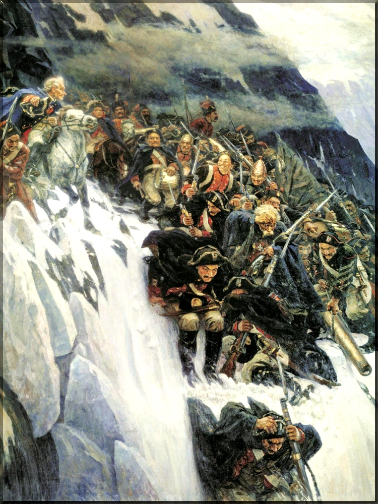 1799 Suvorov Crossing the Alps in 1799 by Vasily Surikov