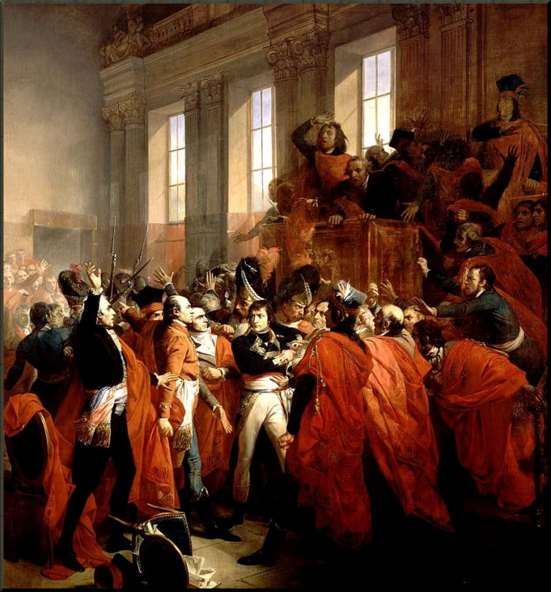 1799 Bonaparte during the coup of 1799 by Francois Bouchot